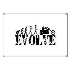 Motorcycle Rider Banner