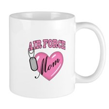 Air Force Mom Pink Heart N Dog Tags - Mug
