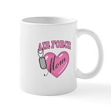 Air Force Mom Pink Heart N Dog Tags - Mug