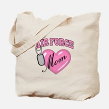 Air Force Mom Pink Heart N Dog Tags - Tote Bag