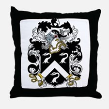 Squire Family Crest Throw Pillow
