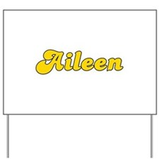 Retro Aileen (Gold) Yard Sign
