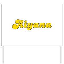 Retro Aiyana (Gold) Yard Sign