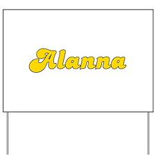 Retro Alanna (Gold) Yard Sign