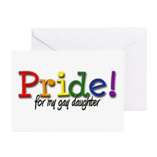Pride Gay Daughter Greeting Cards (Pk of 10)