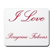 I Love Peregrine Falcons Mousepad