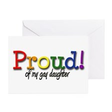 Proud Gay Daughter Greeting Cards (Pk of 10)