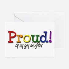Proud Gay Daughter Greeting Cards (Pk of 10)
