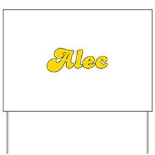 Retro Alec (Gold) Yard Sign