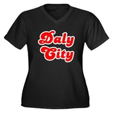 Retro Daly City (Red) Women's Plus Size V-Neck Dar
