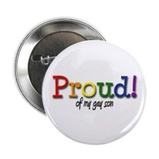 "Proud Gay Son 2.25"" Button"