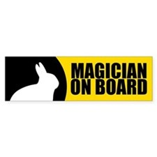 Magician On Board Bumper Sticker, Bunny