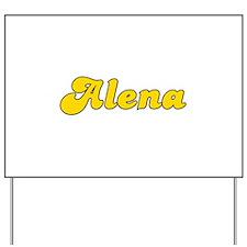 Retro Alena (Gold) Yard Sign