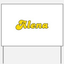 Retro Alena (Gold) Yard Sign