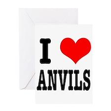 I Heart (Love) Anvils Greeting Card