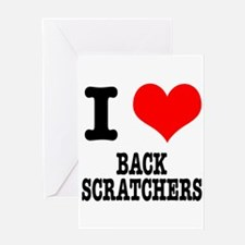 I Heart (Love) Back Scratcher Greeting Card