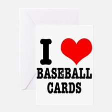 I Heart (Love) Baseball Cards Greeting Card