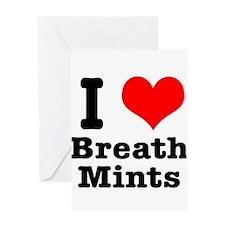 I Heart (Love) Breath Mints Greeting Card