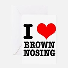 I Heart (Love) Brown Nosing Greeting Card