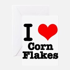I Heart (Love) Corn Flakes Greeting Card