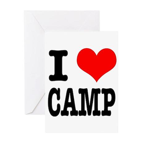 I Heart (Love) Camp Greeting Card