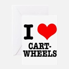 I Heart (Love) Cartwheels Greeting Card
