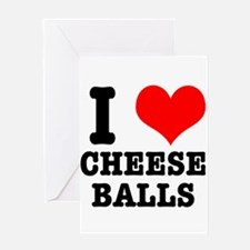 I Heart (Love) Cheese Balls Greeting Card