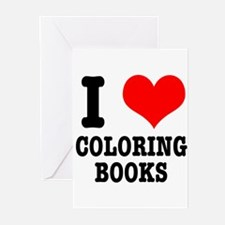 I (Heart) Love Coloring Books Greeting Cards (Pk o