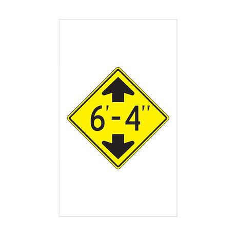 "Tall One 6'4"" Rectangle Sticker 10 pk)"