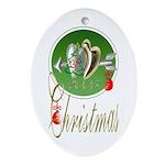 I Love Christmas Keepsake (Oval)