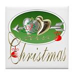 I Love Christmas Tile Coaster