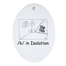 K in isolation Oval Ornament