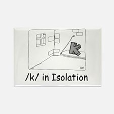 K in isolation Rectangle Magnet