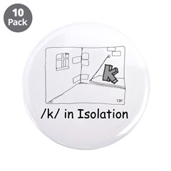 "K in isolation 3.5"" Button (10 pack)"