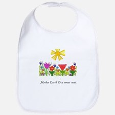 Mother Earth Flowers Bib