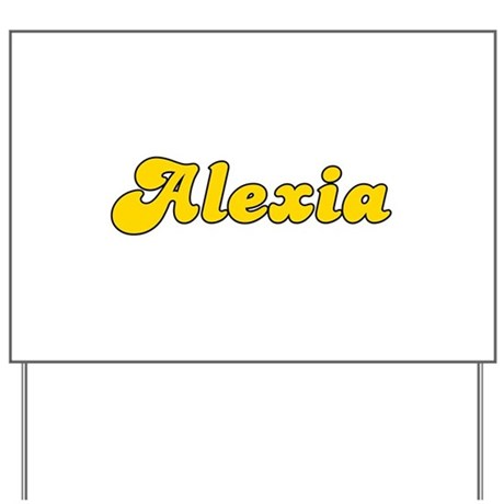 Retro Alexia (Gold) Yard Sign