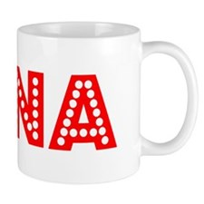 Retro Lena (Red) Mug