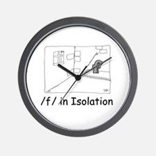 F in isolation Wall Clock