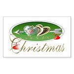 I Love Christmas Rectangle Sticker
