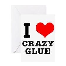 I Heart (Love) Crazy Glue Greeting Card