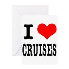 I Heart (Love) Cruises Greeting Card