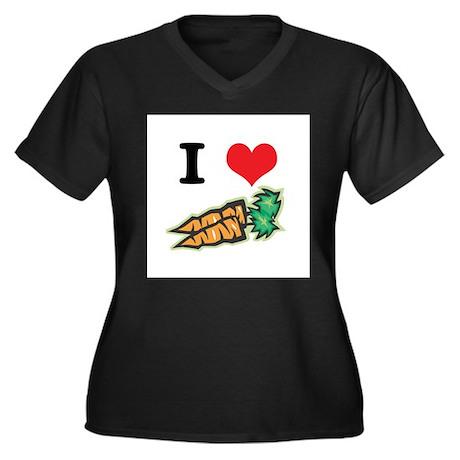 I Heart (Love) Carrots Women's Plus Size V-Neck Da