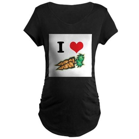 I Heart (Love) Carrots Maternity Dark T-Shirt