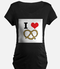 I Heart (Love) Pretzels T-Shirt