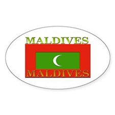 Maldives Oval Decal