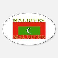 Maldives Oval Decal
