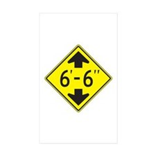 "Tall One 6'6"" Rectangle Sticker 10 pk)"