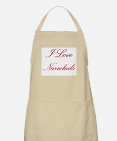 I Love Narwhals BBQ Apron