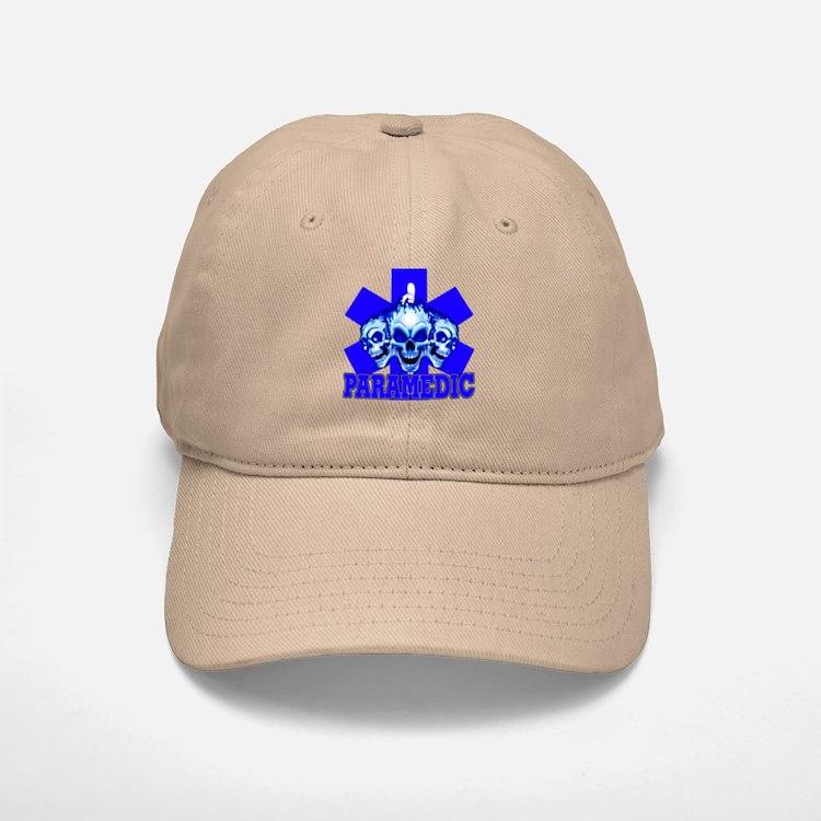 PARAMEDIC-3 SKULLS Baseball Baseball Cap