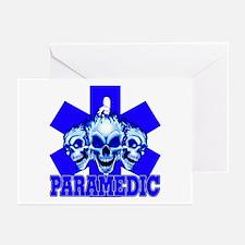 PARAMEDIC-3 SKULLS Greeting Cards (Pk of 10)